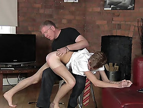 Old dude fucks and blows his cute young twink lover